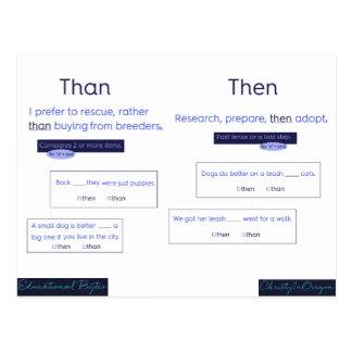Education Bytes: Than & Then Postcard