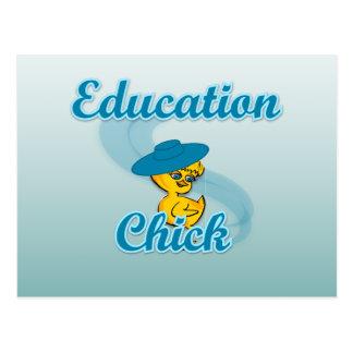 Education Chick #3 Postcard