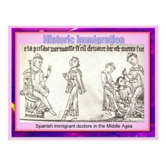 Education, Citizenship, Historic immigration Postcard