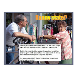 Education, Citizenship, Nanny State? Postcard