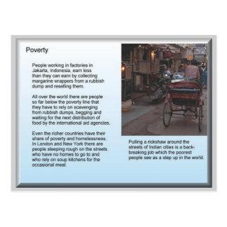 Education, Citizenship, Poverty Postcard