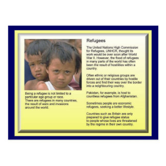 Education, Citizenship,Refugees, Role of UNHCR Postcard