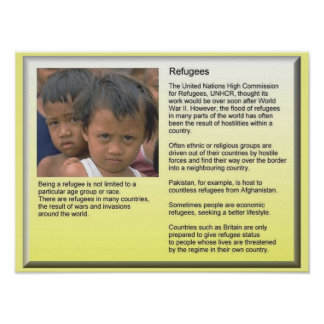 Education, Citizenship, Refugees, UNHCR Background Poster