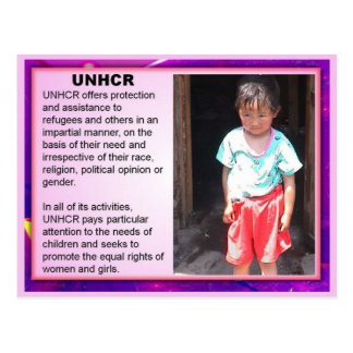 Education, Citizenship, Refugees, UNHCR Postcard