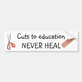 Education Cuts Are Permanent Car Bumper Sticker