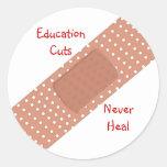 Education Cuts Never Heal Sticker