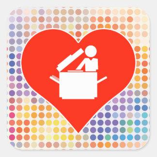 Education Fan Square Sticker
