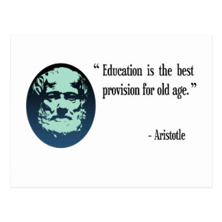 Education for old age, Aristotle postcard