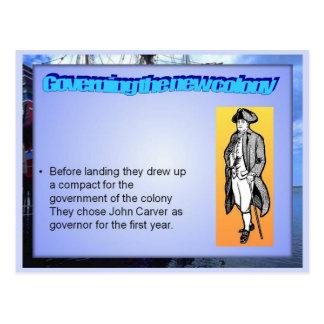 Education, History, Governor John Carver Postcard