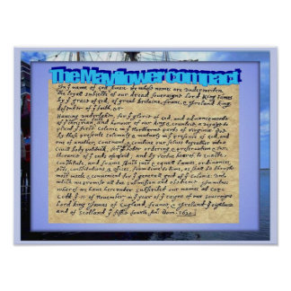 Education, History, Mayflower contract Poster