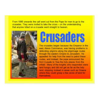 Education, History, Medieval Crusaders Postcard