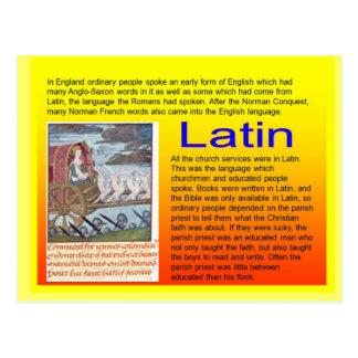 Education, History, Medieval use of Latin Postcard