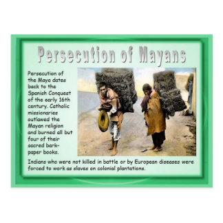 Education, History,  Modern Mayan persecution Postcard