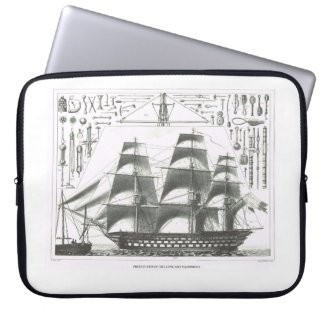 Education, History, Naval vessel, square rig Laptop Sleeve