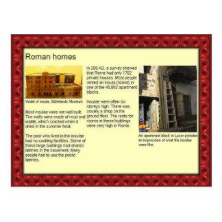 Education, History, Roman homes Postcard
