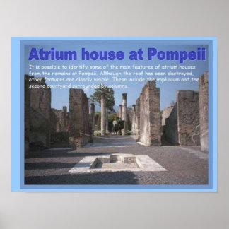 Education, History, Romans, Atrium house, Pompeii Posters