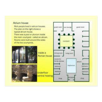 Education, History, Romans, Atrium House Postcard