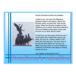 Education, History, Romans, Boudicca's rebellion Postcard