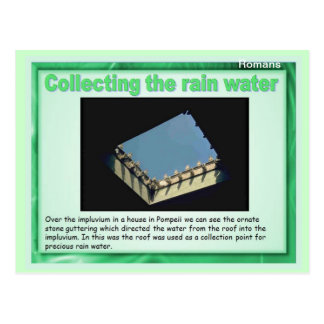 Education, History, Romans, Collecting rain water Postcard
