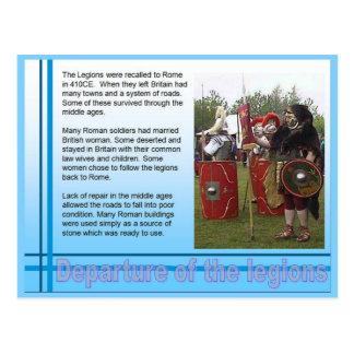 Education, History, Romans, Departure of legion Postcard