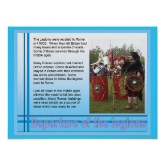 Education, History, Romans, Departure of Legions Poster