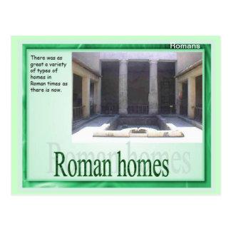 Education, History, Romans, Roman homes Postcard
