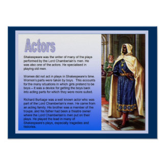 Education, History, Shakespeare, Actors Poster