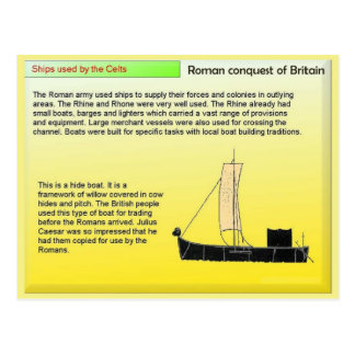 Education, History, Ships used by the Celts Postcard