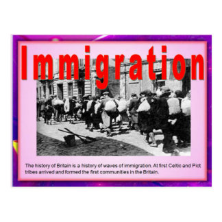Education, Immigration Introduction Postcard