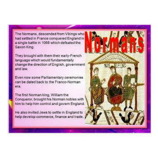 Education, Immigration, Normans Postcard
