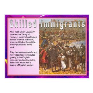 Education, Immigration, Skilled immigrants Postcard