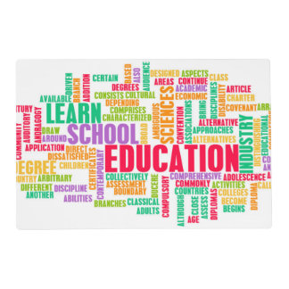 Education Industry for Children to Learn Placemat