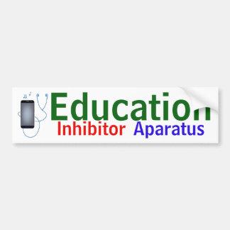 """""""Education Inhibitor Aparatus"""" sticker"""