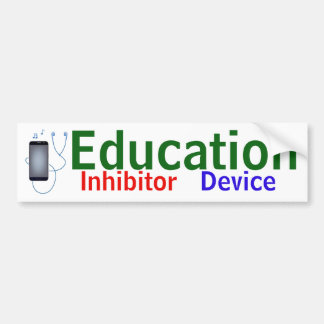"""Education Inhibitor Device"" sticker"