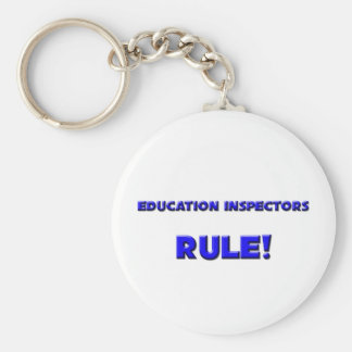 Education Inspectors Rule! Basic Round Button Keychain