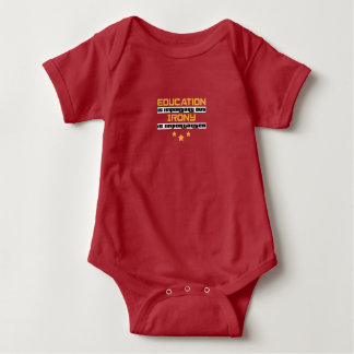 Education Is Important But Irony Is  Importanter Baby Bodysuit
