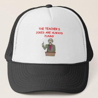 education joke trucker hat
