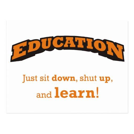 Education - Learn Postcard