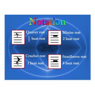 Education, Music, Notation Postcard