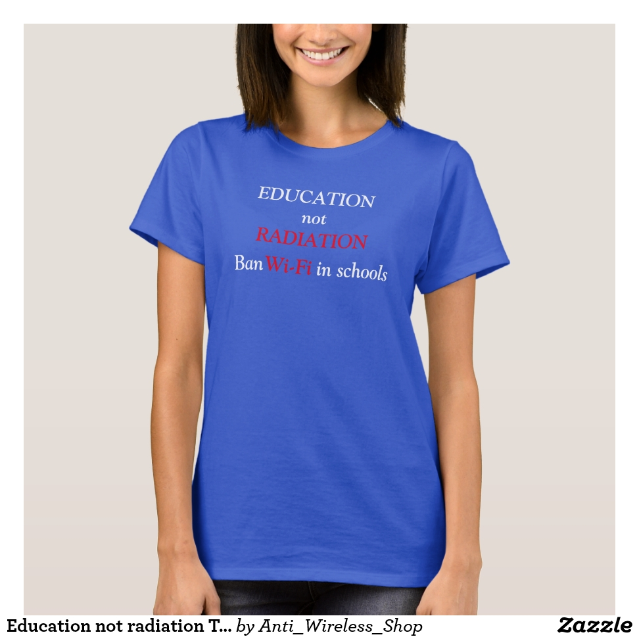 Education not radiation T-shirt - Best Selling Long-Sleeve Street Fashion Shirt Designs