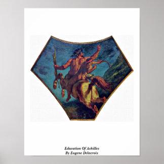 Education Of Achilles By Eugene Delacroix Poster