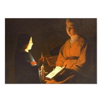 Education of the Virgin by Georges de la Tour Card