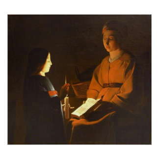 Education of the Virgin by Georges de la Tour Poster