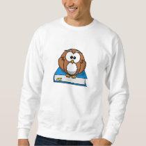 Education Owl on Blue Book Sweatshirt