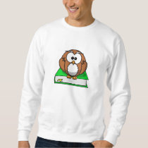 Education Owl on Green Book Sweatshirt