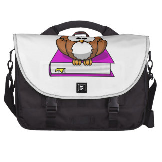 Education Owl on Purple Book Bags For Laptop