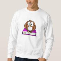 Education Owl on Purple Book Sweatshirt