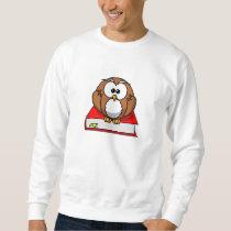 Education Owl on Red Book Sweatshirt
