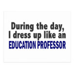 Education Professor During The Day Postcard