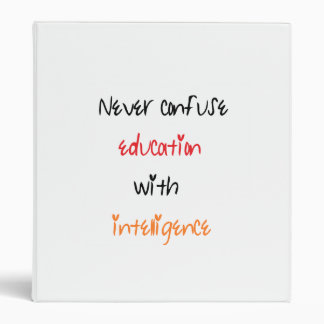 Education quote binder